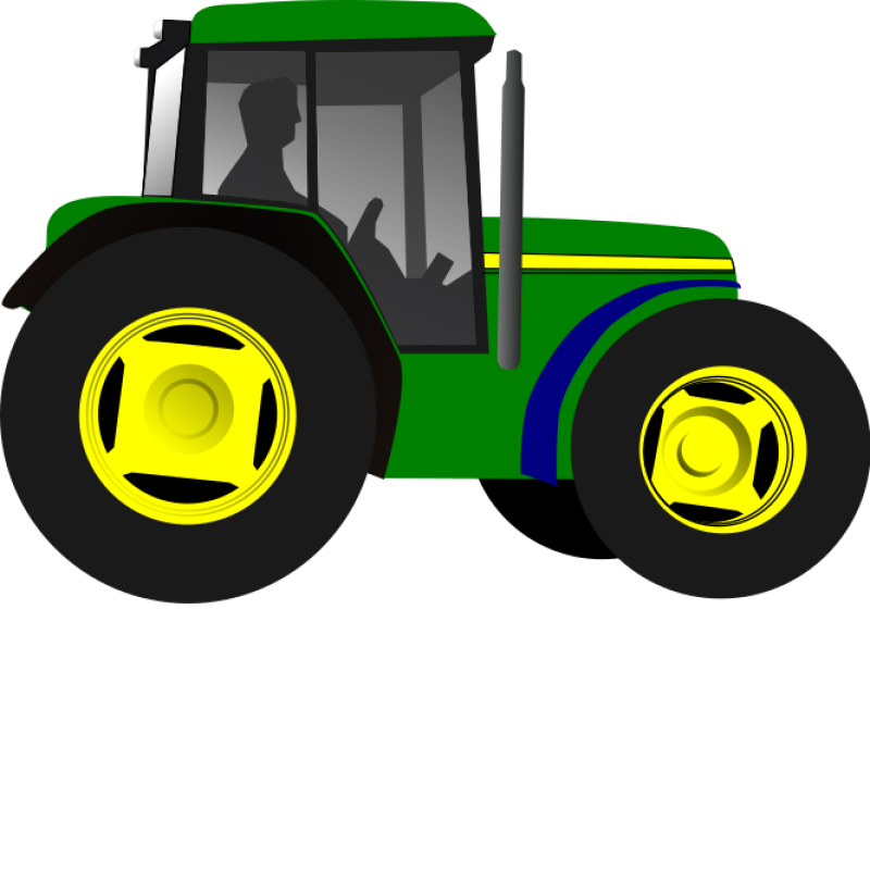 Green Tractor Clipart png free, Green Tractor transparent png