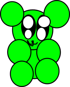 Gummy Bear Green Pa Clipart png free, Gummy Bear Green Pa transparent png