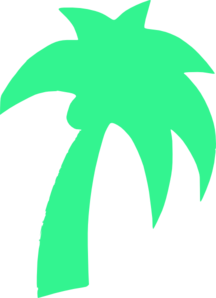 Palm Tree Green Mint Clipart png free, Palm Tree Green Mint transparent png