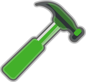 Green Hammer Gray Clipart png free, Green Hammer Gray transparent png