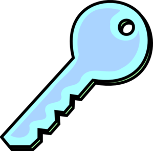 Grey Blue Key Clipart png free, Grey Blue Key transparent png