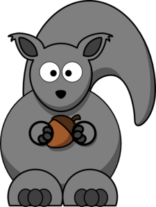 Squirrel Grey Clipart png free, Squirrel Grey transparent png