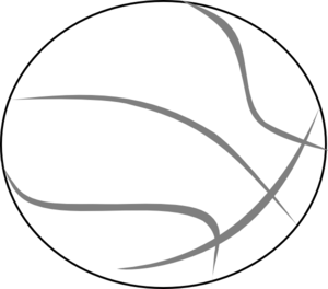 Basketball Grey Outline Clipart png free, Basketball Grey Outline transparent png