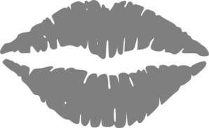 Hot Grey Lips Clipart png free, Hot Grey Lips transparent png