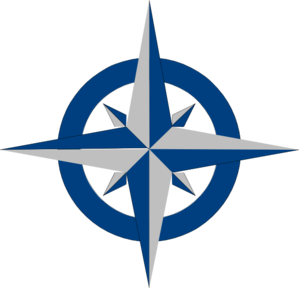 Compass Rose - Blue And Grey Clipart png free, Compass Rose - Blue And Grey transparent png