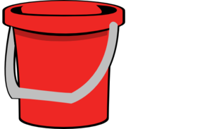 Red Bucket Clipart png free, Red Bucket transparent png