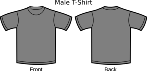 Grey T-Shirt Template Clipart png free, Grey T-Shirt Template transparent png