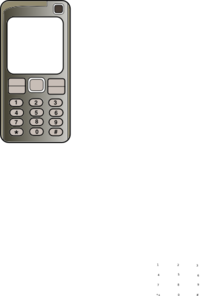 Mobile Phone With Blank Screen Clipart png free, Mobile Phone With Blank Screen transparent png