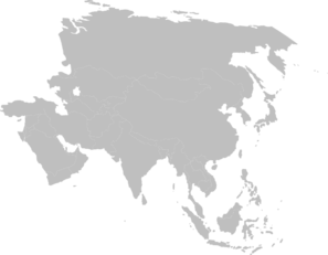 Asia Continent Clipart png free, Asia Continent transparent png