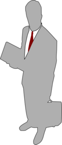 Grey Businessman Clipart png free, Grey Businessman transparent png