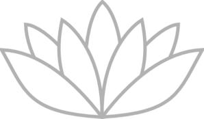 Grey Outlined Lotus Clipart png free, Grey Outlined Lotus transparent png
