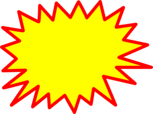 Starburst No Drop Shadow Clipart png free, Starburst No Drop Shadow transparent png