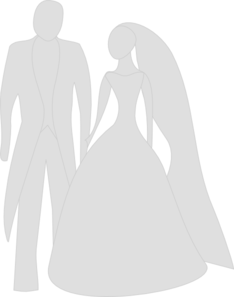Grey Bride And Grrom Clipart png free, Grey Bride And Grrom transparent png