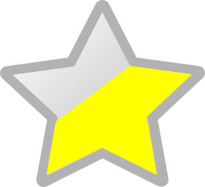 Star Grey/Yellow Clipart png free, Star Grey/Yellow transparent png