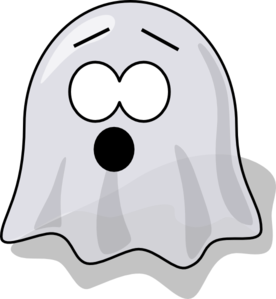 Scared Ghost Clipart png free, Scared Ghost transparent png