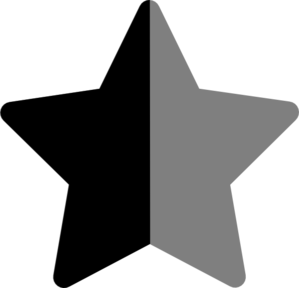 Star Bkacj And Grey Clipart png free, Star Bkacj And Grey transparent png