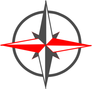 Red Gray Compass  Clipart png free, Red Gray Compass  transparent png