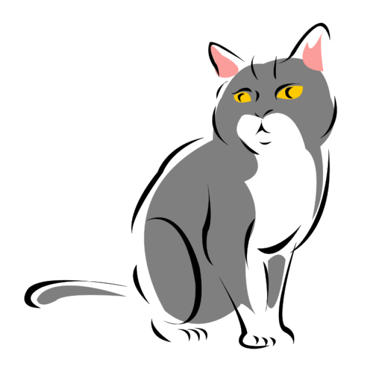Grey Cat Clipart png free, Grey Cat transparent png