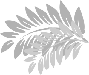 Leaves Light Grey Clipart png free, Leaves Light Grey transparent png