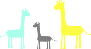 Baby Giraffe Family Clipart png free, Baby Giraffe Family transparent png