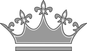 Grey Princess Crown Clipart png free, Grey Princess Crown transparent png