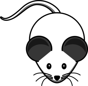 White Mouse Both-Grey-Ears Clipart png free, White Mouse Both-Grey-Ears transparent png
