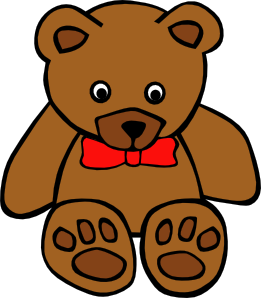 Simple Teddy Bear With Bow Clipart png free, Simple Teddy Bear With Bow transparent png