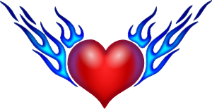 Burning Heart Clipart png free, Burning Heart transparent png