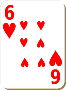Six Of Hearts Clipart png free, Six Of Hearts transparent png