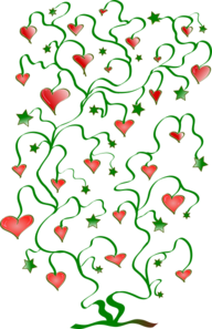 Tree Of Hearts With Leaves Of Stars Clipart png free, Tree Of Hearts With Leaves Of Stars transparent png