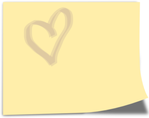 Yellow Note With Heart Clipart png free, Yellow Note With Heart transparent png