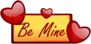 Be Mine Hearts Frame Clipart png free, Be Mine Hearts Frame transparent png