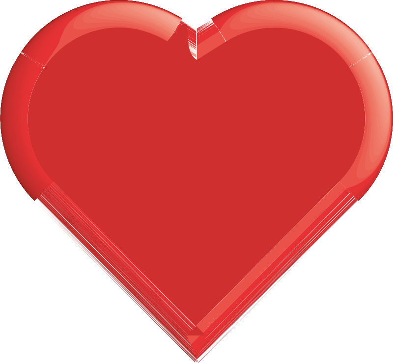 Red Heart Clipart png free, Red Heart transparent png