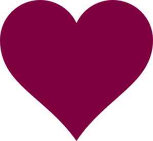 Solid Magenta Heart Clipart png free, Solid Magenta Heart transparent png