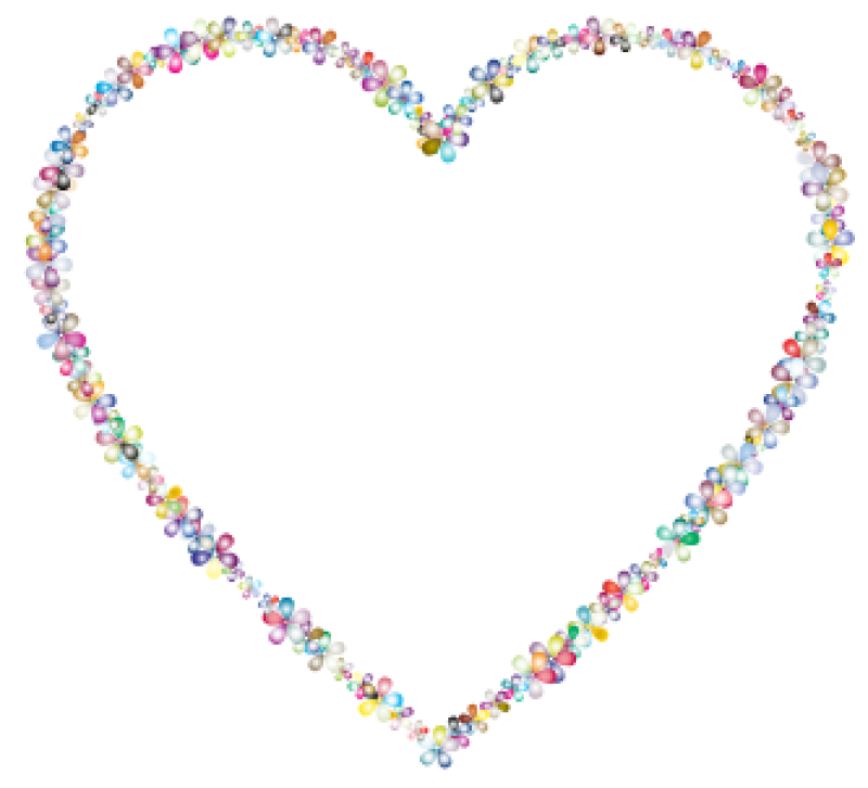 Heart Outline Clipart png free, Heart Outline transparent png