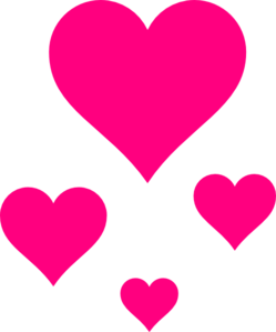 Pink Hearts Clipart png free, Pink Hearts transparent png