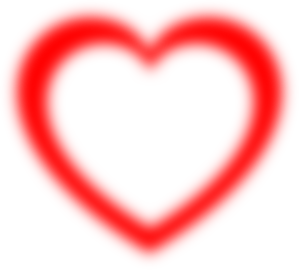Fuzzy Red Heart Outline Clipart png free, Fuzzy Red Heart Outline transparent png