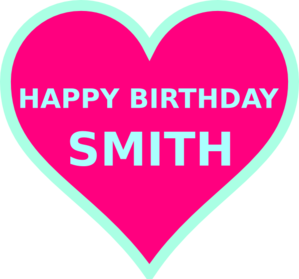 Smith Bday5 Clipart png free, Smith Bday5 transparent png