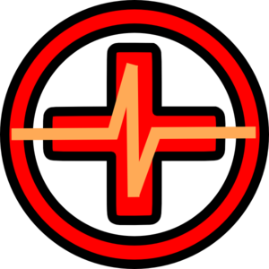 Red Cross With Pulse Clipart png free, Red Cross With Pulse transparent png