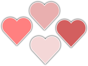 Various Shades Of Pink Hearts Clipart png free, Various Shades Of Pink Hearts transparent png
