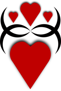 Black Red Hearts Clipart png free, Black Red Hearts transparent png