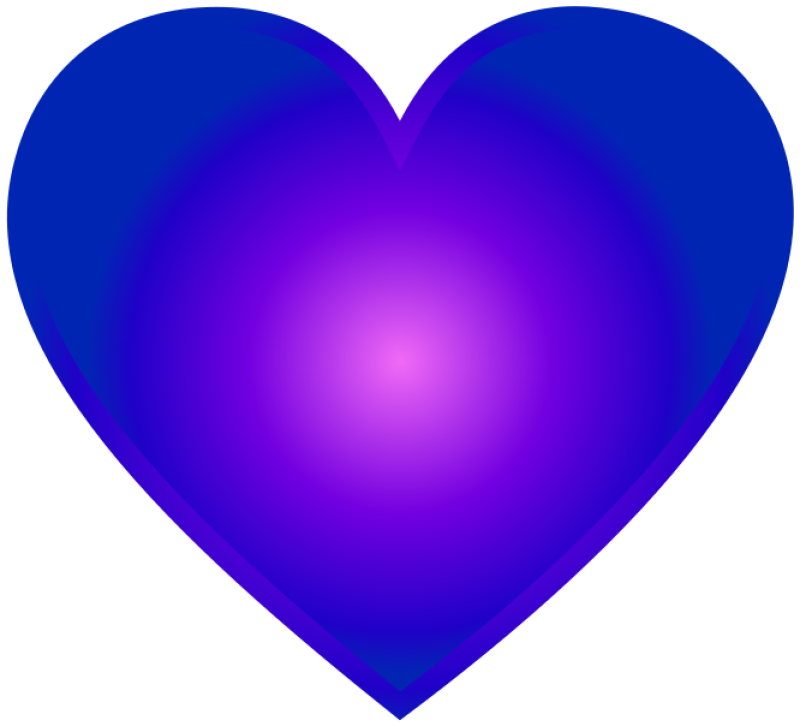 Blue Heart Clipart png free, Blue Heart transparent png