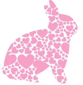 Rabbit With Hearts Clipart png free, Rabbit With Hearts transparent png