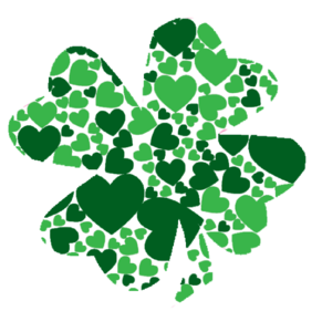 Shamrock With Green Hearts Clipart png free, Shamrock With Green Hearts transparent png