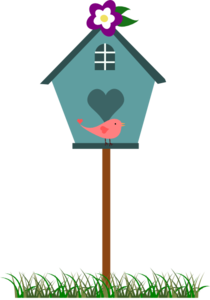 Birdhouse With Bird Clipart png free, Birdhouse With Bird transparent png