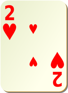 Simple Two Of Hearts Clipart png free, Simple Two Of Hearts transparent png