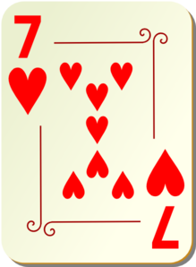 Ornamental Seven Of Hearts Clipart png free, Ornamental Seven Of Hearts transparent png