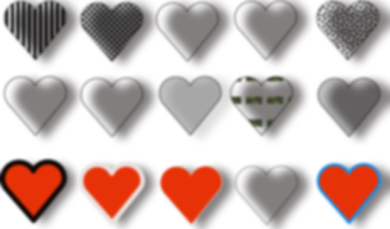 Hearts Clipart png free, Hearts transparent png