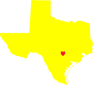 Yellow Heart Texas Clipart png free, Yellow Heart Texas transparent png