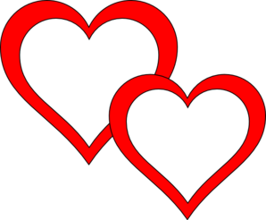 Two Hearts Overlap Clipart png free, Two Hearts Overlap transparent png
